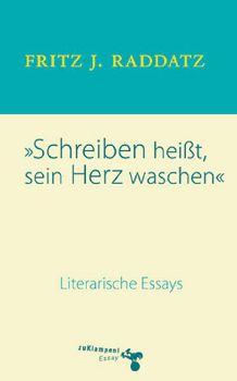 Cover: Schreiben heisst, sein Herz waschen