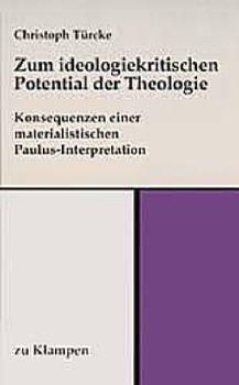Cover: Zum ideologiekritischen Potential der Theologie