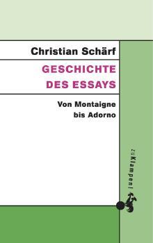 Cover: Geschichte des Essays