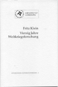 Cover: Vierzig Jahre Weltkriegsforschung