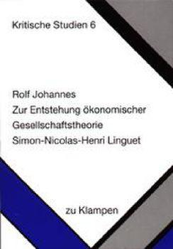 Cover: Zur Entstehung ökonomischer Gesellschaftstheorie