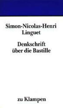 Cover: Denkschrift über die Bastille