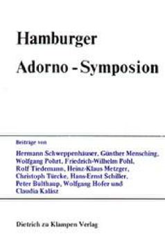Cover: Hamburger Adorno-Symposion