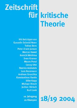 Cover: Zeitschrift für kritische Theorie, Heft 18/19