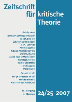 Cover: Zeitschrift für kritische Theorie, Heft 24/25