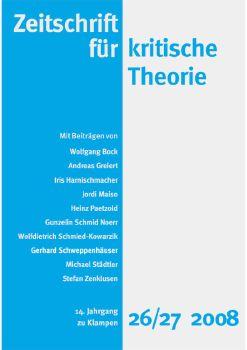 Cover: Zeitschrift für kritische Theorie, Heft 26/27