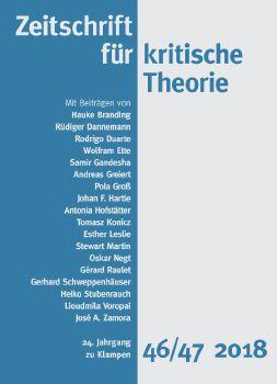 Cover: Zeitschrift für kritische Theorie, Heft 46/47
