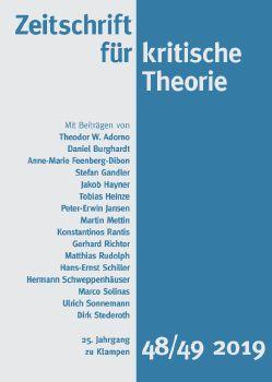 Cover: Zeitschrift für kritische Theorie, Heft 48/49