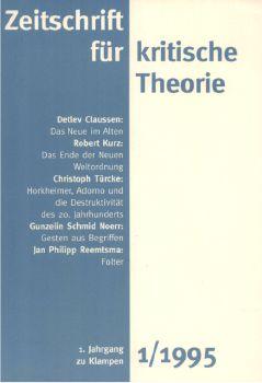 Cover: Zeitschrift für kritische Theorie / Zeitschrift für kritische Theorie, Heft 1