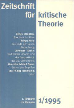 Cover: Zeitschrift für kritische Theorie, Heft 1