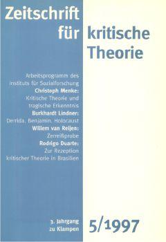 Cover: Zeitschrift für kritische Theorie / Zeitschrift für kritische Theorie, Heft 5