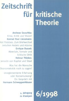 Cover: Zeitschrift für kritische Theorie, Heft 6