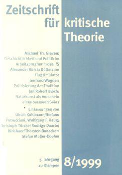 Cover: Zeitschrift für kritische Theorie, Heft 8