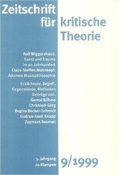 Cover: Zeitschrift für kritische Theorie, Heft 9