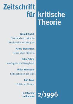 Cover: Zeitschrift für kritische Theorie / Zeitschrift für kritische Theorie, Heft 2