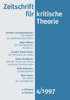 Cover: Zeitschrift für kritische Theorie / Zeitschrift für kritische Theorie, Heft 4