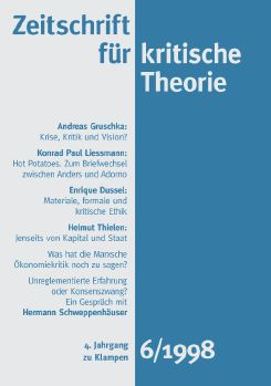 Cover: Zeitschrift für kritische Theorie / Zeitschrift für kritische Theorie, Heft 6