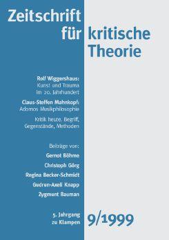 Cover: Zeitschrift für kritische Theorie / Zeitschrift für kritische Theorie, Heft 9
