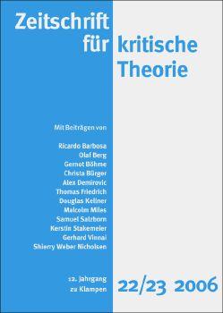 Cover: Zeitschrift für kritische Theorie, Heft 22/23