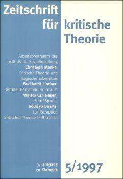 Cover: Zeitschrift für kritische Theorie, Heft 5