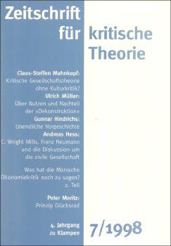 Cover: Zeitschrift für kritische Theorie, Heft 7