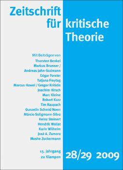Cover: Zeitschrift für kritische Theorie, Heft 28/29
