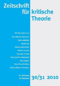 Cover: Zeitschrift für kritische Theorie