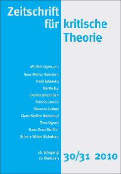 Cover: Zeitschrift für kritische Theorie, Heft 30/31