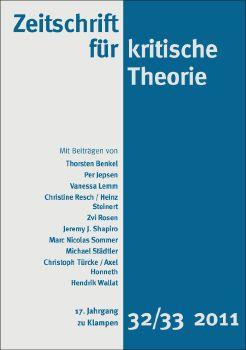 Cover: Zeitschrift für kritische Theorie, Heft 32/33