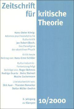 Cover: Zeitschrift für kritische Theorie, Heft 10