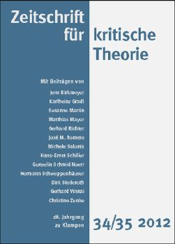 Cover: Zeitschrift für kritische Theorie, Heft 34/35