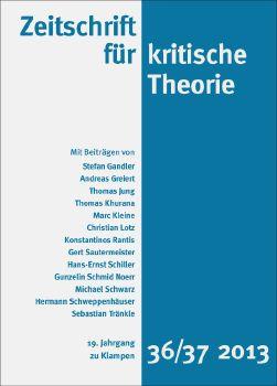 Cover: Zeitschrift für kritische Theorie, Heft 36/37