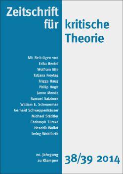 Cover: Zeitschrift für kritische Theorie, Heft 38/39