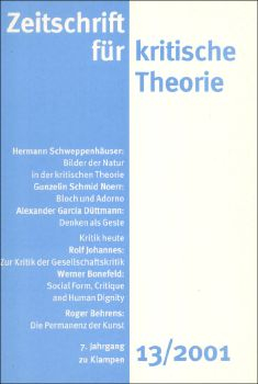 Cover: Zeitschrift für kritische Theorie, Heft 13