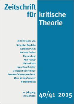 Cover: Zeitschrift für kritische Theorie, Heft 40/41
