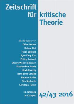 Cover: Zeitschrift für kritische Theorie, Heft 42/43