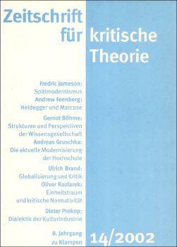 Cover: Zeitschrift für kritische Theorie, Heft 14