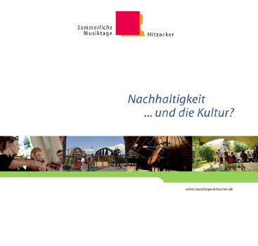 Cover: Nachhaltigkeit...und die Kultur?