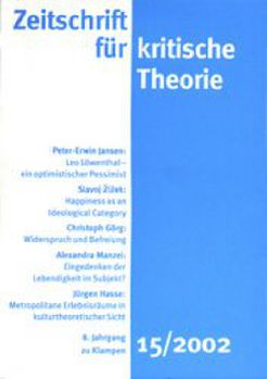 Cover: Zeitschrift für kritische Theorie / Zeitschrift für kritische Theorie