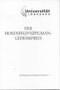 Cover: Der Hosenfeld/Szpilman-Gedenkpreis
