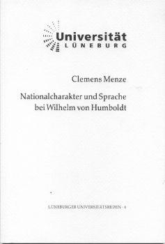 Cover: Nationalcharakter und Sprache bei Wilhelm von Humboldt