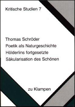 Cover: Poetik als Naturgeschichte