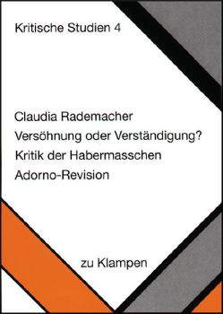 Cover: Versöhnung oder Verständigung?