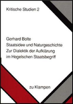 Cover: Staatsidee und Naturgeschichte