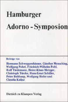 Cover: Hamburger Adorno-Symposion
