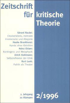 Cover: Zeitschrift für kritische Theorie, Heft 2