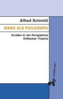 Cover: Marx als Philosoph